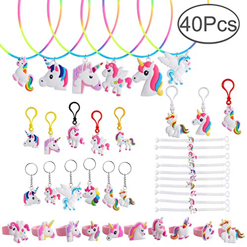 Unicorn Party Supplies, Hicdaw 40 Pcs Unicorn Necklace Favor