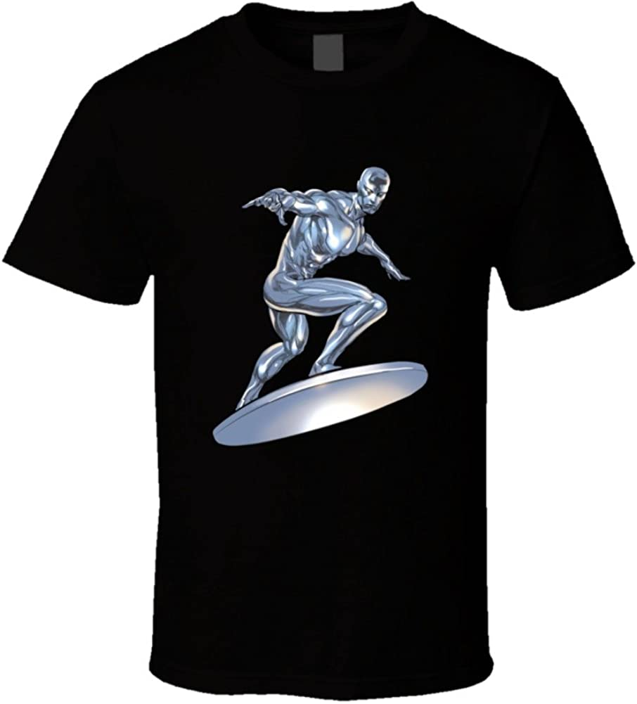 Amazon Com Silver Surfer Fan T Shirt Clothing