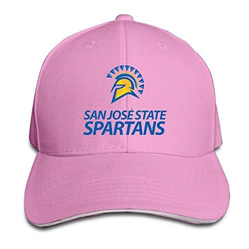 Harriy San Jose #22 State Spartans Trucker Sandwich Cap Pink