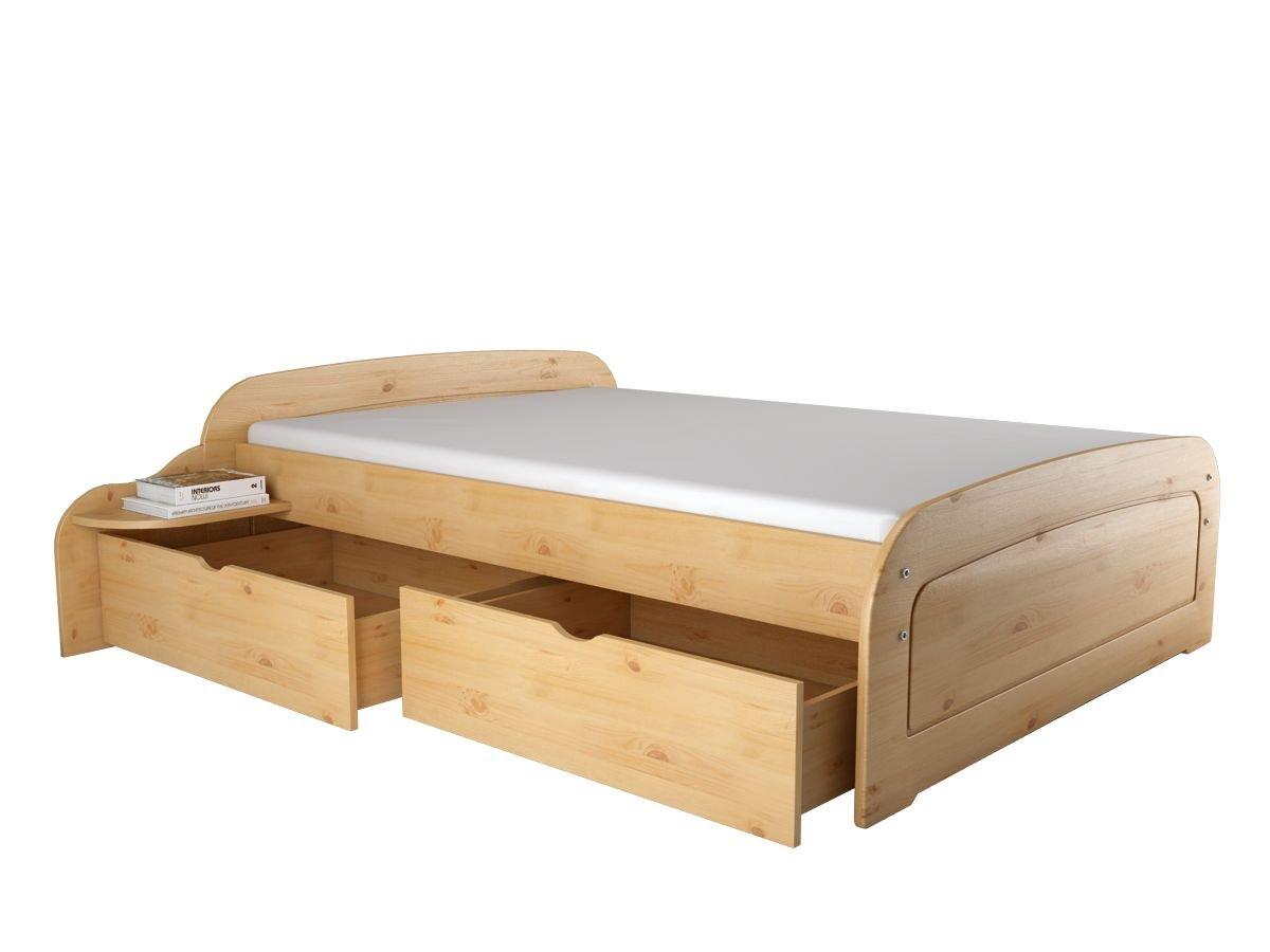 Loft24 Kojenbett Funktionsbett Bett mit Schubladen 140x200 cm Bettgestell Kiefer Massivholz Bettrahmen Schlafzimmer Landhaus gebeizt geölt