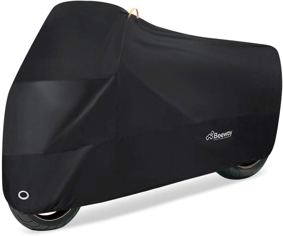 Beeway Funda para Moto, Cubierta de Motocicleta 190T UV Protectora