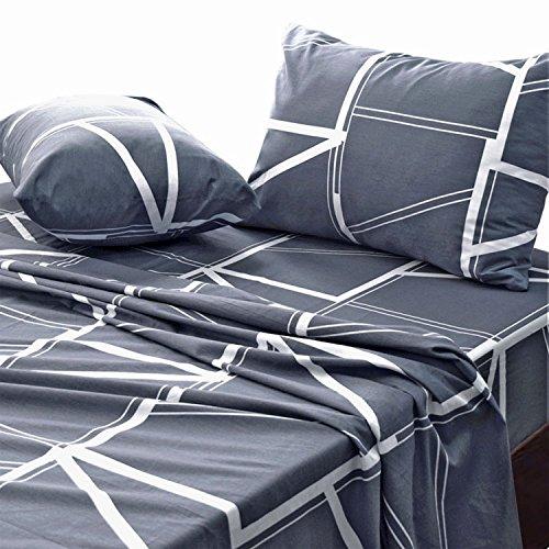 (Essina King Bed Sheet Set 4pc Rosetta Collection, Cotton 620 Thread Count, Deep Pocket Sheet, Jamaica)