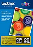 Brother BP71GP20 Premium Glossy Photo Paper - Papel fotográfico (Color blanco, 102 x 152 mm)