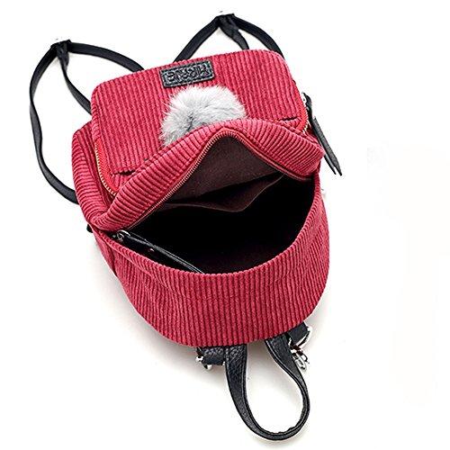 Adolescente Schoolbags Lady Cuero Rojo 2017 Mochilas Mujer Kukul De w7vxnY0qvr