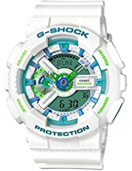 Casio GA110WG-7A White 55mm Resin G-Shock Mens Watch