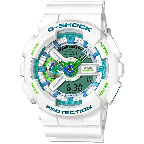 Casio GA110WG-7A White 55mm Resin G-Shock Mens Watch