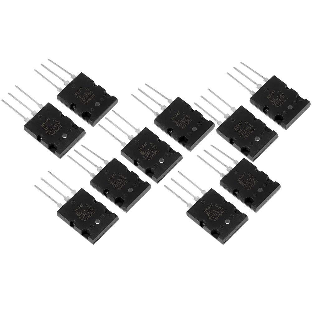 transistor noir 2SA1943 2SC5200 /à haute puissance 5 paires Transistor audio