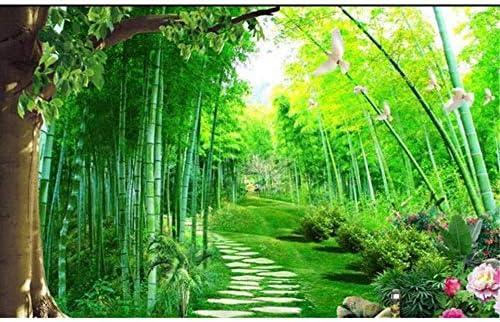 Ljjlm カスタム3D写真壁紙ベッドルーム壁画竹林風景画テレビソファ背景壁ステッカー壁紙用ウォール3D-360X240CM