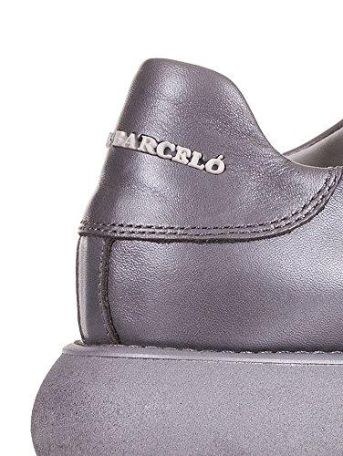 Bianco Piel Blanco Barcelo' Mujer Para Zapatillas De Manuel 4qwvS0w
