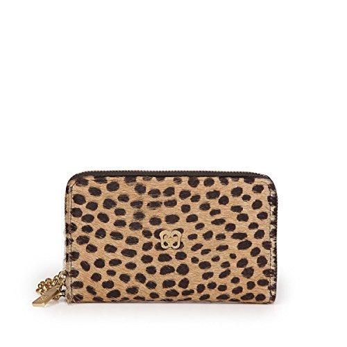 Eric Javits Luxury Fashion Designer Women's Handbag - Smartphone Wristlet - Cheeta Black by Eric Javits