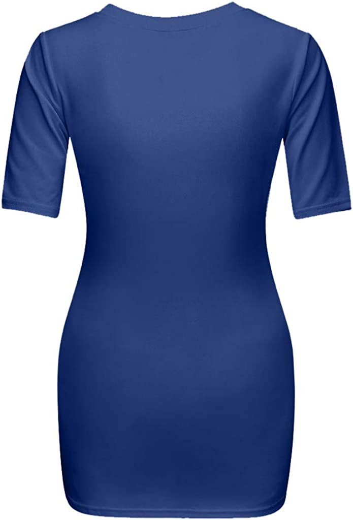 Camiseta de Manga Corta de Maternidad Elasticidad Mujeres Blusa Impresa Tops Embarazadas Divertido beb/é Ropa de Premam/á para Mujer Camiseta Embarazo T-Shirt Gusspower