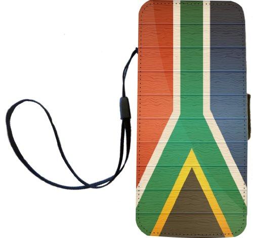rikki knight bandera de Sudáfrica en madera envejecido Flip Wallet iphonecase con tapa magnética para iPhone...
