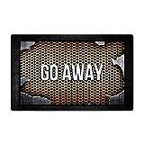 AoBoDo Custom Doormat Push It Textures Steel Metal Go Away Decor Doormat Indoor/Outdoor Door Mat 15.7 Inch by 23.6 Inch Non-Woven Fabric Non Slip