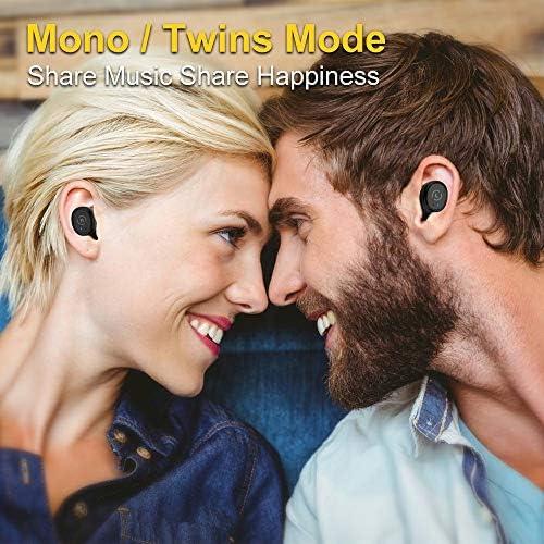 Ankbit True Wireless Bluetooth Earbuds, Upgraded Bluetooth 5.0 Sport Sports TWS Stereo Headphones in Ear Build in Mic IPX6 Waterproof for Workout, Running 51t1TIawh3L