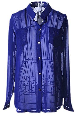 Zauberkirschen - Camisas - para mujer Azul