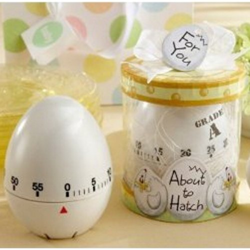 About to Hatch Kitchen Egg Timer in Showcase Gift Box - WHITE (pack of 10) -
