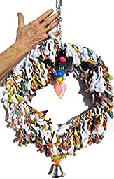 Bonka Bird Toys 1017 Huge Fluffy Ring Bird Toy parrot cage toys cages swing preen plucker binkie