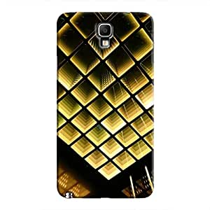 Cover It Up - Infinite Golden Squares Galaxy Note 3 Neo Hard Case