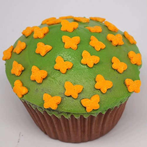 Quality Sprinkles Natural Orange Gluten GMO Nuts Dairy Soy Free Confetti Little Butterfly (70g/2.47 oz)