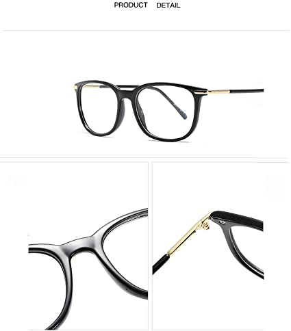 Miyings Unisex Stylish High Fashion Metal Temple Horn Rimmed Clear Lens Eye Glasses