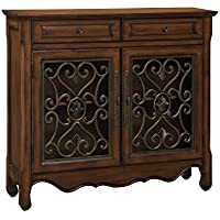 Treasure Trove Accents Chair Side Chest, Manteo Textured Black Finish