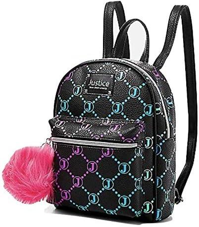 Justice Signature Black Mini Backpack