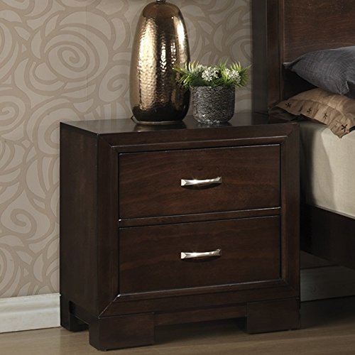 Montana 6-PC Walnut Modern Wood Bedroom Set, King Bed, Dresser&Mirror, 2 Nightstands, Chest