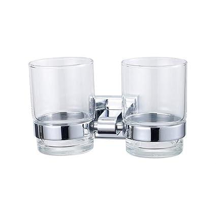 Portavasos Portacepillos de baño Cuarto de baño Portavasos Porta vasos de baño de acero inoxidable Portacepillos
