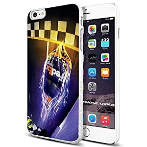 NASCAR RACING ACTION,Cool iphone 6 4.7 (+ , Inch) Smartphone Case Cover Collector iphone TPU Rubber Case White