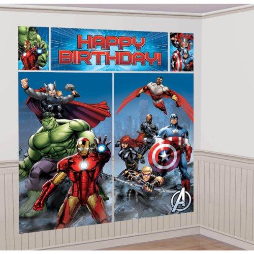 5-Piece Avengers Scene Setter Set, Multicolored (Superhero Decorations)