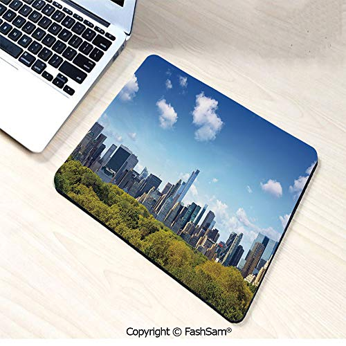 - Mouse Pads Manhattan Skyline with Central Park in New York City Midtown High Rise Buildings for Home(W9.85xL11.8)