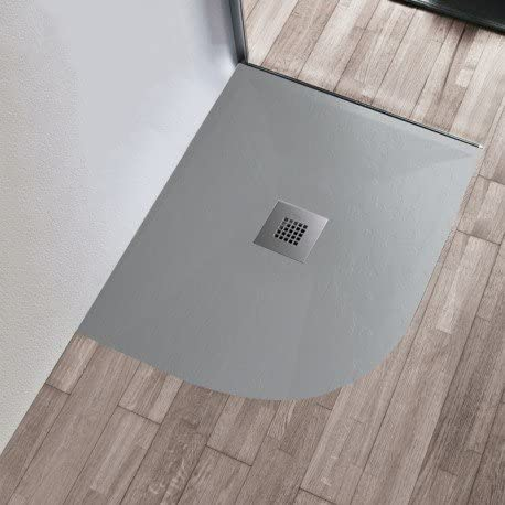 Olimpo duchas – Plato Ducha 70 x 90 90 x 70 80 x 100 100 x 80 gris claro Pizarra Mineral Mármol semicircular redondo rectangular 3 cm – 80 x 100, izquierda: Amazon.es: Bricolaje y herramientas