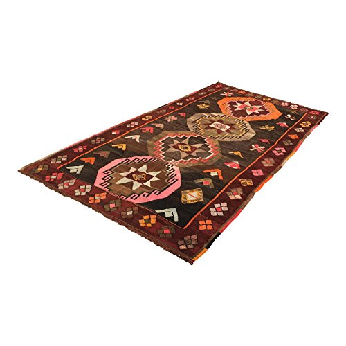 Vintage Turkish Kilim Rug - 6′4″ × 12′
