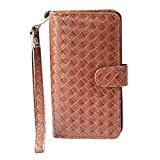 J Cover A9 I Elegant Series Leather Carry Case Cover Pouch Wallet Case For Micromax Canvas A82 Brown