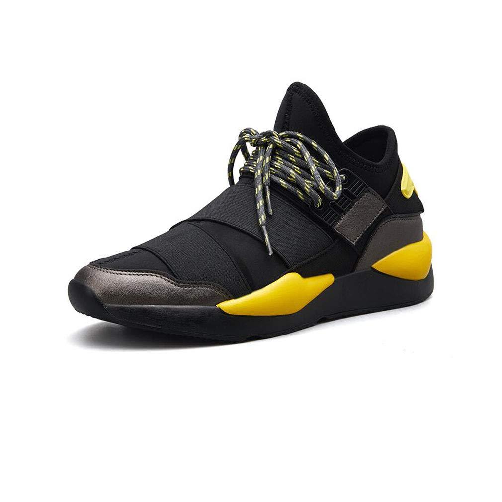 ECSD Laufschuhe Der Mode-Männer Sportschuhe Personalisierter Nähender Frühling Und Herbst (Farbe   schwarz Gelb, größe   EU39 UK6 CN39)