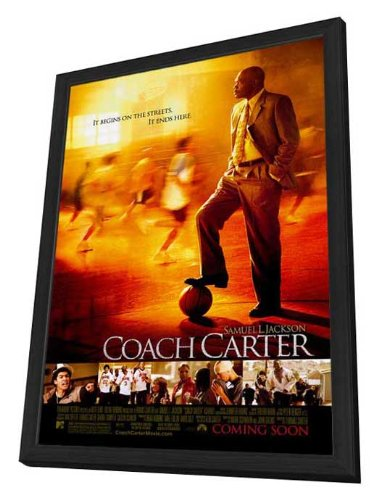 Coach Carter - 27 x 40 Framed Movie Poster