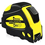 Micsoa 16Ft Tape Measure Inch/Metric Auto Lcok Measuring Tape Ruler for Construction, Home Use, Hobbies, DIY (Yellow)