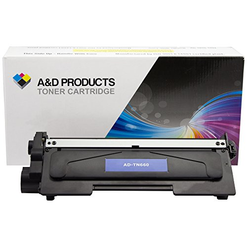 A&D Products Compatible Replacement For Brother TN660 Toner Cartridge High Yield Black (2,600 Page Yield) For Use With DCP-L2520DW, DCP-L2540DW, HL-L2300D, HL-L2305W, HL-L2320D, HL-L2340DW, HL-L2360DW, HL-L2380DW, MFC-L2680W, MFC-L2700DW, MFC-L2705DW, MFC