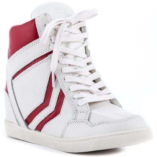 ZiGiny Women's Jumper Fashion Sneaker,Red/Cream Leather,8.5 M US