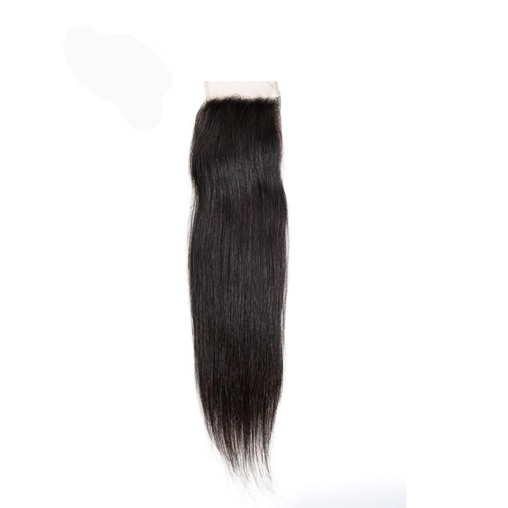 4x4人間の髪の毛3点ミディアム部フリーポイント7Aナチュラルヘアレースの髪の代わりにリアルなウィッグのヘッドピックアップナチュラルカラーのShun Fat Middle Part Closure 6サイズ (Color : Free Points, Size : 16) B0797DGZ1Y 16