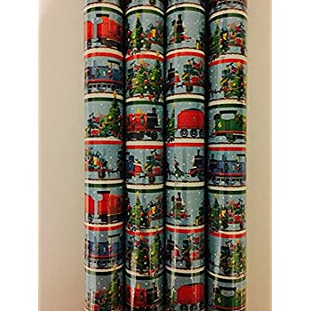 Thomas the Tank Engine Christmas Holiday Gift Wrap Paper 2 Rolls 40 Sq Feet