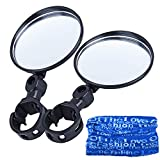 Oziral Bike Bicycle Mirror [2 Pack] Universal Adjustable Bicycle Handlebar Rearview Glass Mirror Headwear for Road Bike Cycling Bicycle