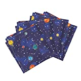 Geek Science Planet Solar System Space Stars Nature Linen Cotton Dinner Napkins Our Solar System by Robyriker Set of 4 Dinner Napkins