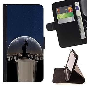 Jordan Colourful Shop - moonlight bridge waterfall woman shadow For Samsung Galaxy S4 IV I9500 - < Leather Case Absorci????n cubierta de la caja de alto impacto > -