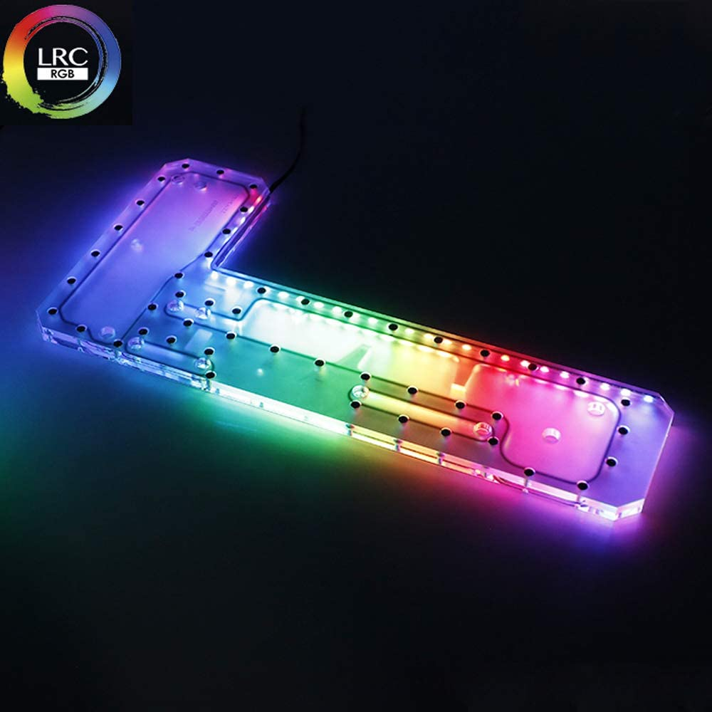 Barrow LRC RGB Acrylic Distro Distribution Plate Waterway Boards for Computer TT Core P5 Water Cooling Case