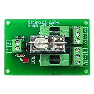electronics-salon Fusible 5 A DPDT Alimentación del relé Módulo de interfaz, g2r-2 24 V DC Relay.