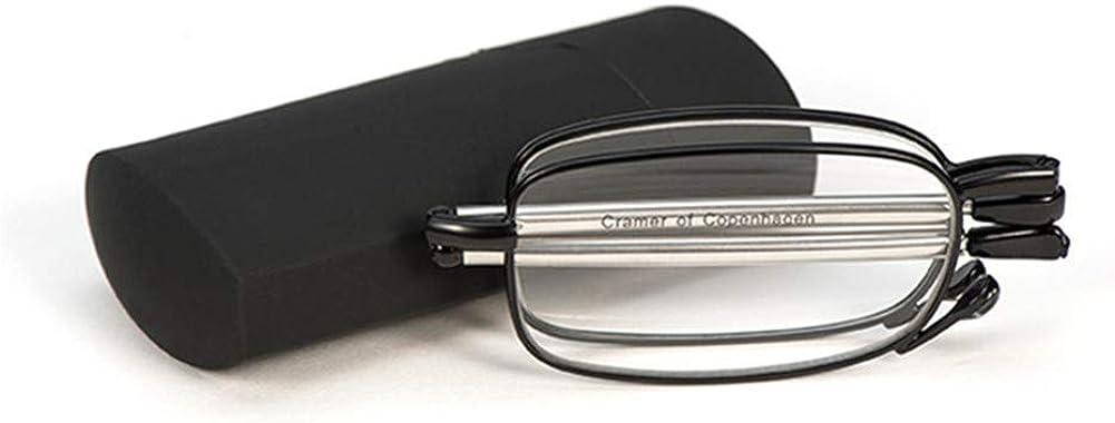 Graceful Titanium Super Slim Mini de alta calidad de cuero elegante y anti-fatiga plegable para leer bolsillo lector de ojo