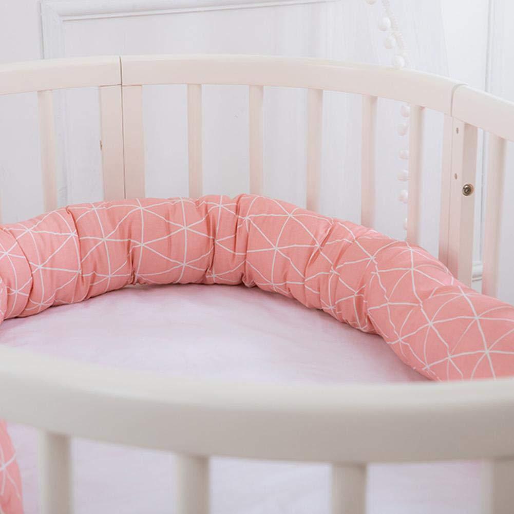 Rollo De Cama De Serpiente Cuna O Cuna con Protector para La Cabeza 200 Cm para Cuna Finelyty Cuna Protectora Envolvente para Parachoques para Beb/és 100 Algod/ón