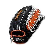 "Boombah Classic Game Ready Baseball Fielding Glove B-2 Web - RHT 12-3/4"" - Black/Orange/White offers"