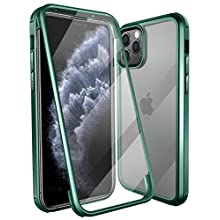 Colel iPhone 11 Case,Full-Body Dual Layer Rugged Clear Bumper Case Built-in Tempered Glass Screen Protector for iPhone 11 6.1 inch (2019 Release) (Dark Green)